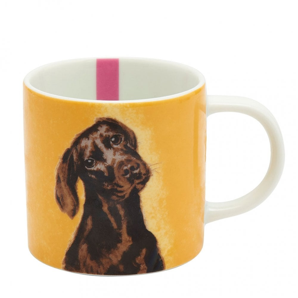 Joules Yellow Chocolate Labrador Porcelain Cuppa Mug 1