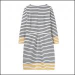 Joules Yvonne Cream Gold Stripe Jersey Dress 2