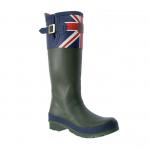 Joules Britannia Green Wellington Boot
