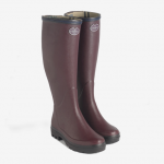 Le Chameau Ladies Giverny Jersey Lined Boot Cherry 1