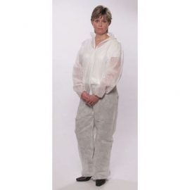 MG Safety Disposable Polypropylene White Boilersuit 1