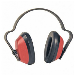 MG Safety Economuff Red-Black Ear Muffs