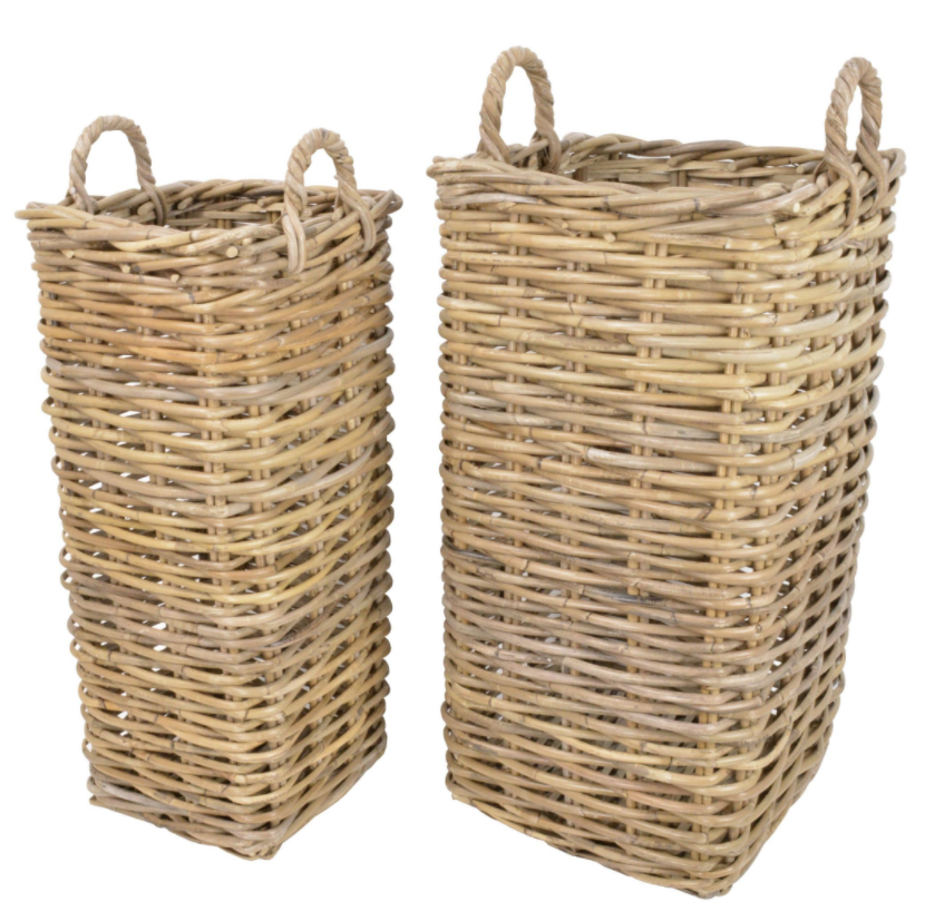 Manor Marriott Tall Rattan Log Basket 1