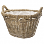 Manor Rosewood Rattan Log Basket
