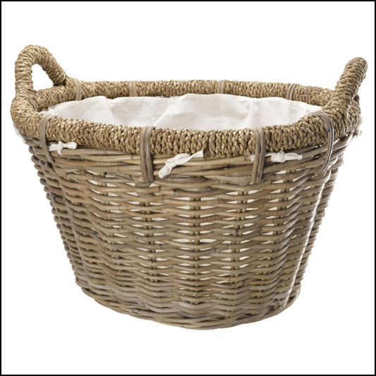 Manor Rosewood Rattan Log Basket 1