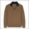 Musto Shooting Zip Neck Knit Toffee 2