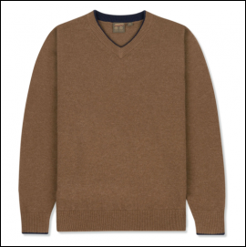 Musto Shooting Zip Neck Knit Toffee