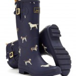 Joules Printed Dog Wellies