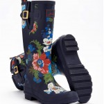 Joules Navy Floral Wellies