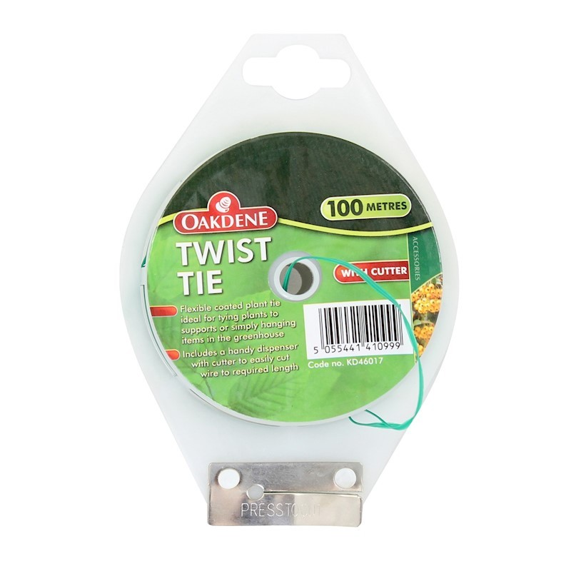 Oakdene 100m Garden Twist Tie with Cutter