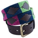Pioneros Polo Belt - Berry, Navy & Green 1