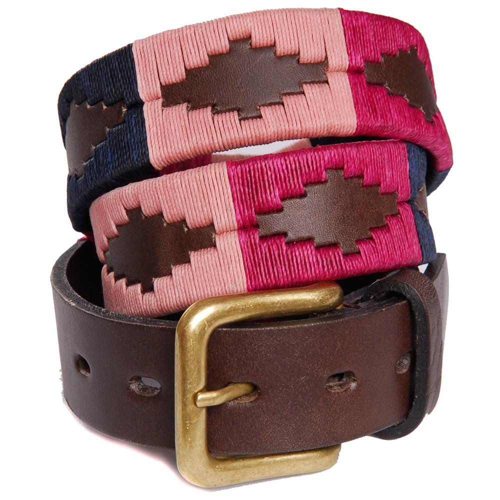 Pioneros Polo Belt - Berry, Navy & Pink 1