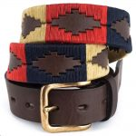 Pioneros Polo Belt - Navy, Cream & Red 1