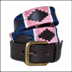 Pioneros Polo Belt – Navy, Pink & White