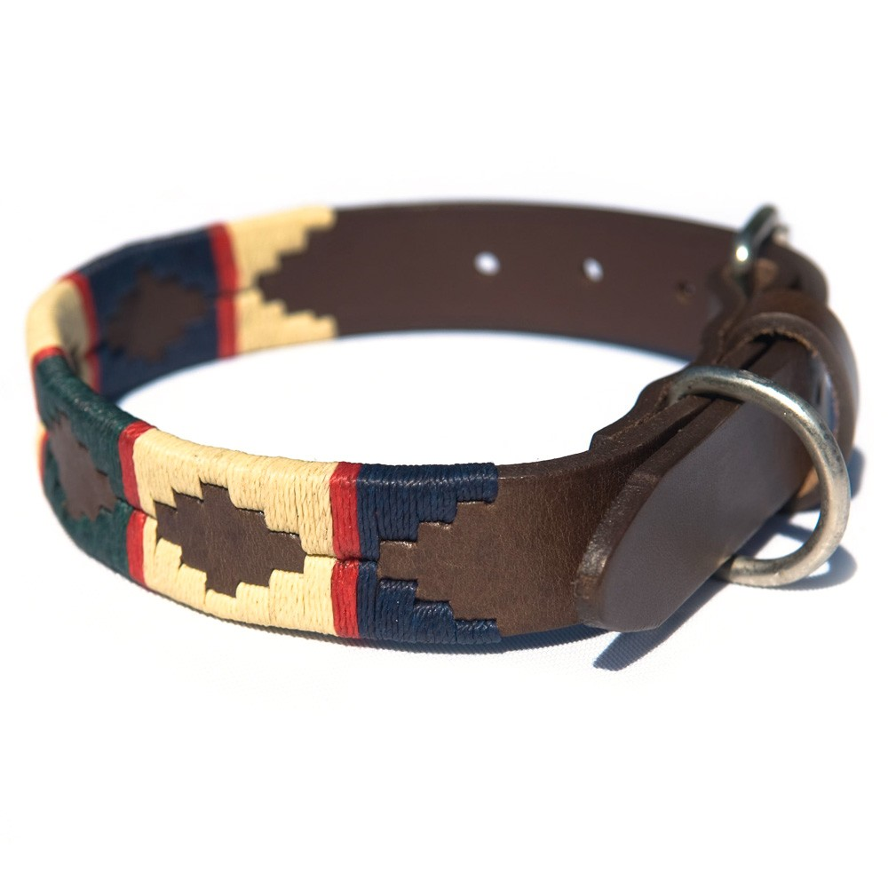 Pioneros Polo Dog Collar - Red Stripe 1