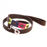 Pioneros Polo Dog Lead – Berry, Navy & Green