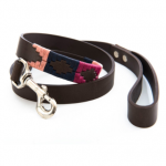 Pioneros Polo Dog Lead – Berry, Navy & Pink