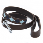 Pioneros Polo Dog Lead – Pampas Cross Navy & Blue