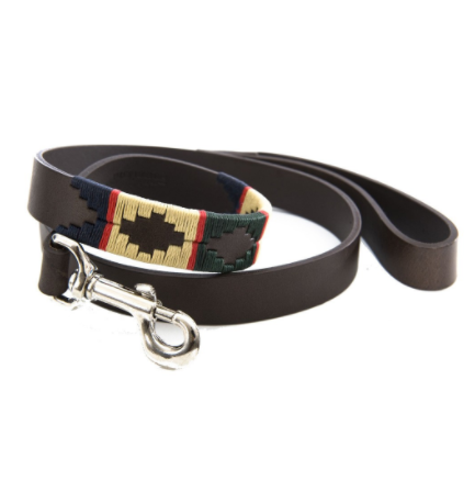 Pioneros Polo Dog Lead - Red Stripe 1