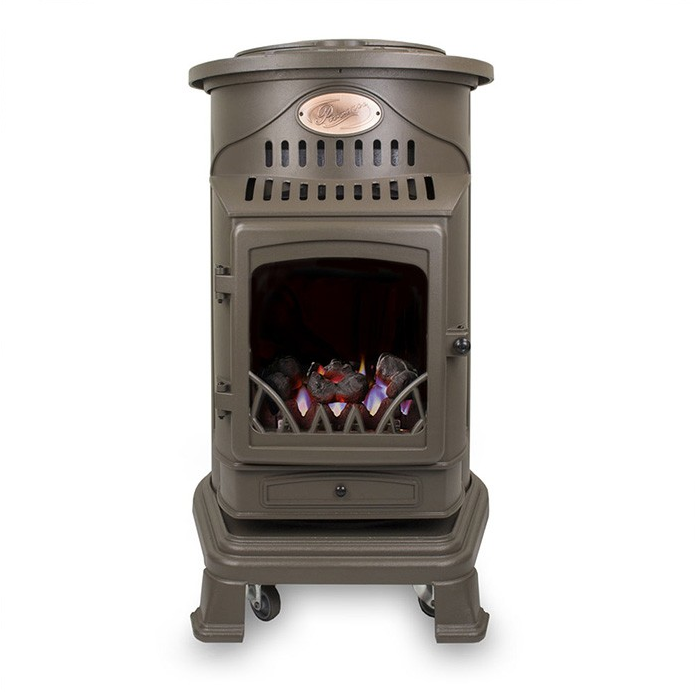 Provence Portable Gas Heater Honey Glow Brown 1
