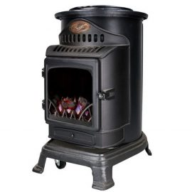 Provence Portable Matt Black Gas Heater