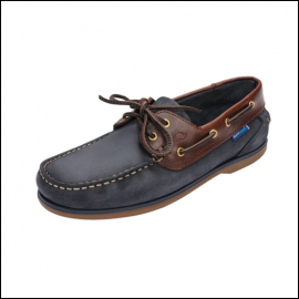 Quayside Clipper Navy-Chestnut Deck Shoe 1