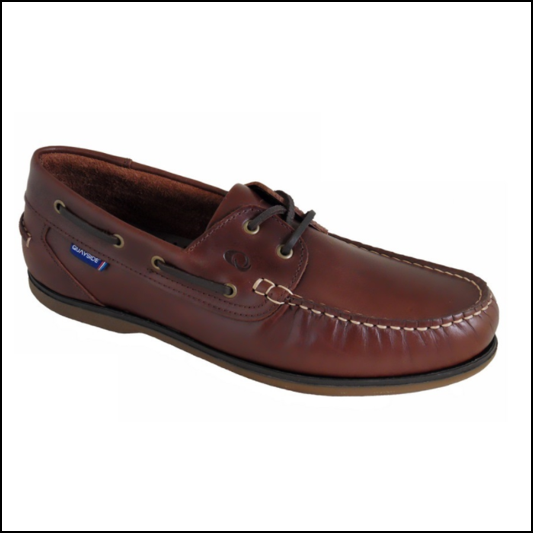 Quayside Ladies Clipper Chestnut Brown Deck Shoe 1