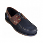 Quayside Ladies Clipper Navy-Chestnut Deck Shoe 1
