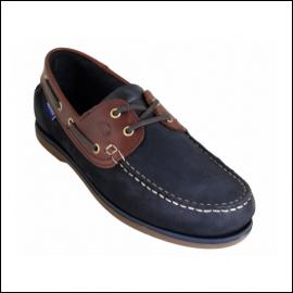 Quayside Ladies Clipper Navy-Chestnut Deck Shoe 1