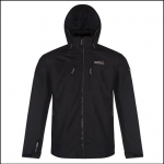 Regatta Calderdale II Waterproof Black Shell Jacket 1