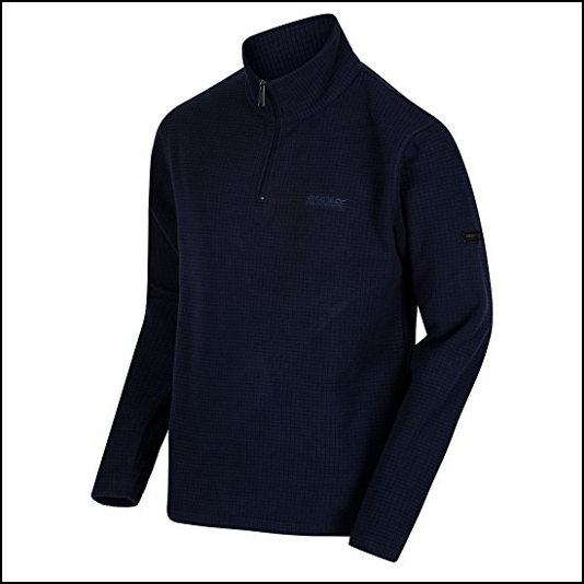 Regatta Elgon II Grid Textured Navy Fleece 1