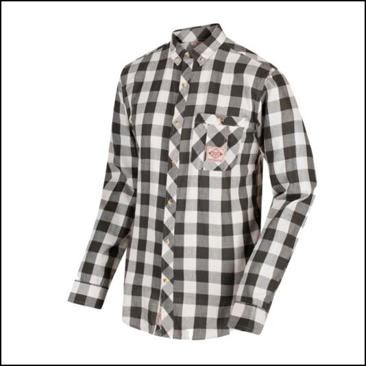 Regatta Loman Dark Khaki Long Sleeve Check Shirt 1