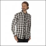 Regatta Loman Dark Khaki Long Sleeve Check Shirt 2