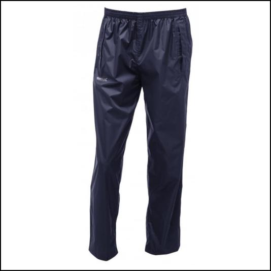 Regatta Pack It Navy Waterproof Overtrousers 1