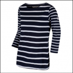 Regatta Parris Navy-White Stripe Top