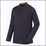 Regatta Pierce Navy Long Sleeve Polo Shirt 1