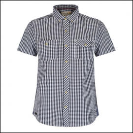 Regatta Randall Navy Gingham Shirt