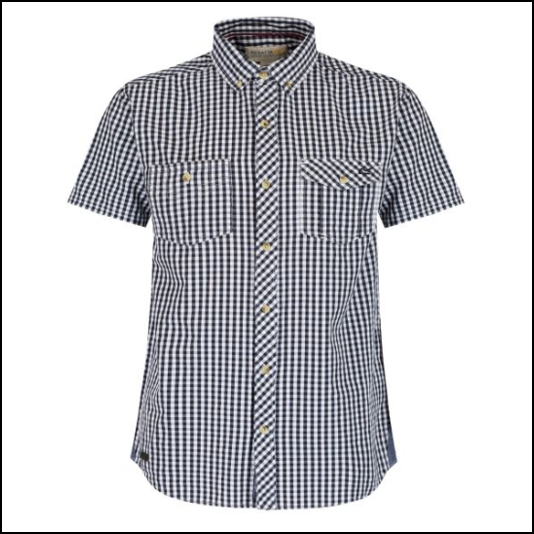 Regatta Randall Navy Gingham Shirt