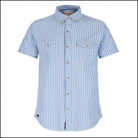 Regatta Randall Powder Blue Gingham Shirt