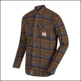 Regatta Tyrus Cameo Green Long Sleeve Fleece Shirt 1