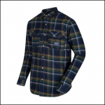 Regatta Tyrus Navy Check Long Sleeve Fleece Shirt 1