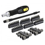 Rolson 58pc Screwdriver & Bit Set