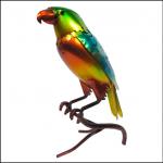 Rolson Glazed Parrot Garden Ornament 1