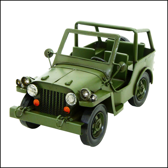 Rolson Model Military Jeep Garden Ornament 1