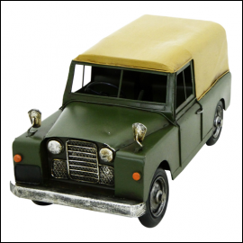 Rolson Model Landrover Garden Ornament 1