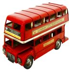 Rolson Model London Bus Garden Ornament 1