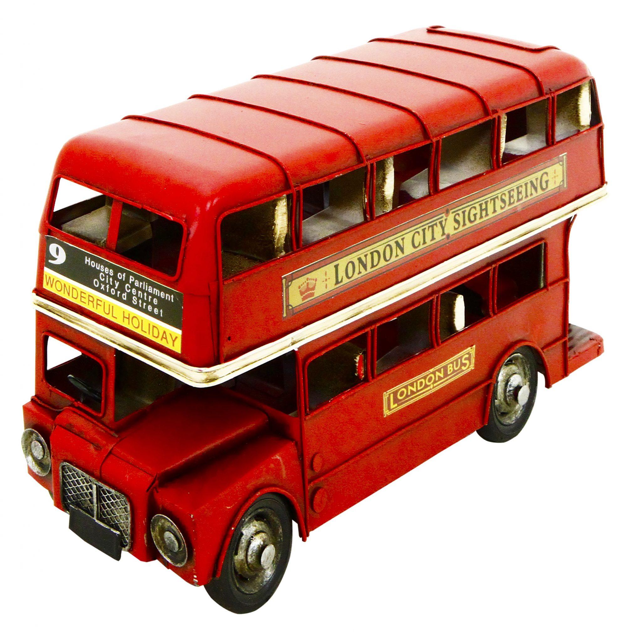 Rolson Model London Bus Garden Ornament 1