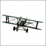 Rolson Model Military Airplane Garden Ornament