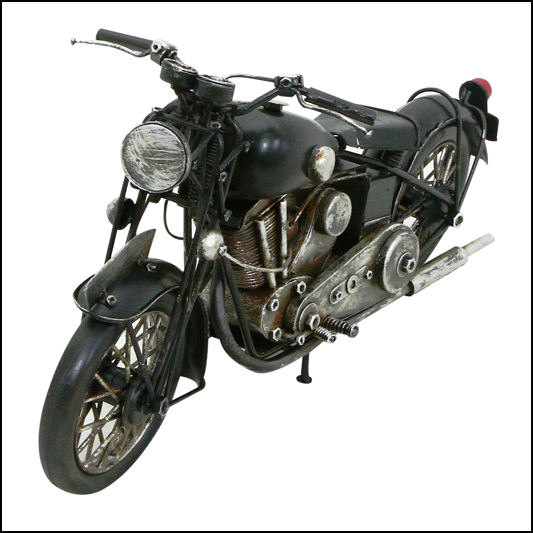 Rolson Model Motorbike Garden Ornament 1