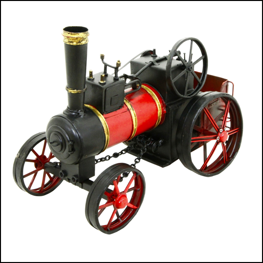 Rolson Model Traction Engine Garden Ornament 1